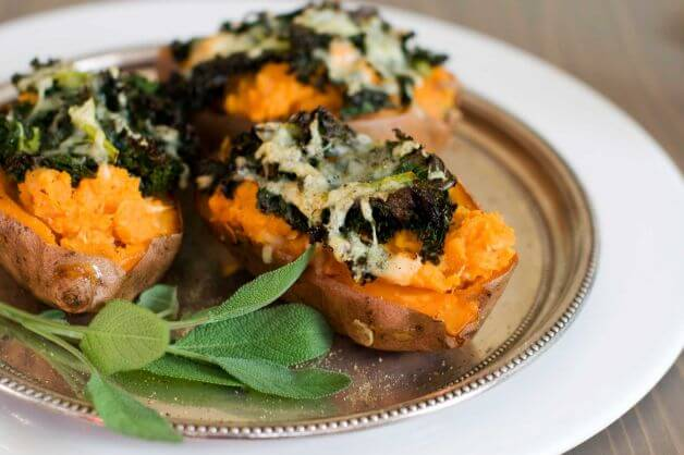 Loaded Baked Sweet Potato Recipe — Dishmaps