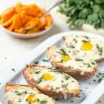 Breakfast Egg Stuffed Sweet Potatoes