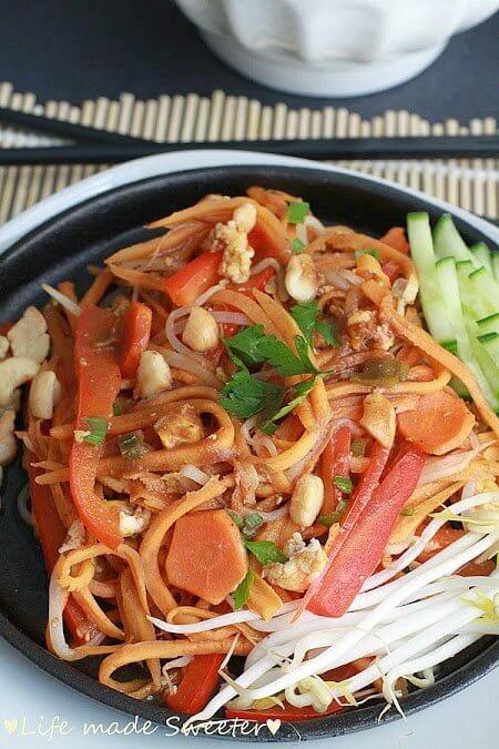 "Sweet Potato ""Noodle"" Pad Thai North Carolina Sweet"