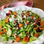 Shaved Brussel Sprout & Sweet Potato Salad