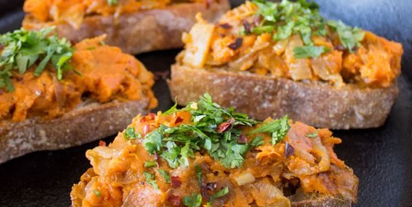 Sweet Tater Shout Out: Sweet Potato & Caramelized Onion Toast