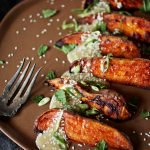Sweet Potato Wedges with Tahini & Sesame