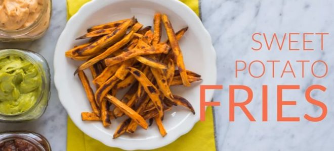Sweet Tater Shout Out: Baked Sweet Potato Fries with Three Vegan Dips