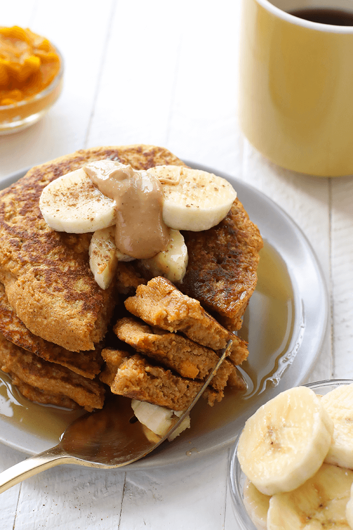 Sweet potato power pancakes north carolina sweet potatoes then fit foodie finds sweet potato power pancakes are just for you simply mix eggs flour and sweet potato puree to make ccuart Images