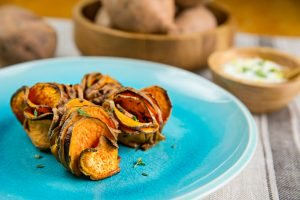Roasted Sweet Potato Stackers