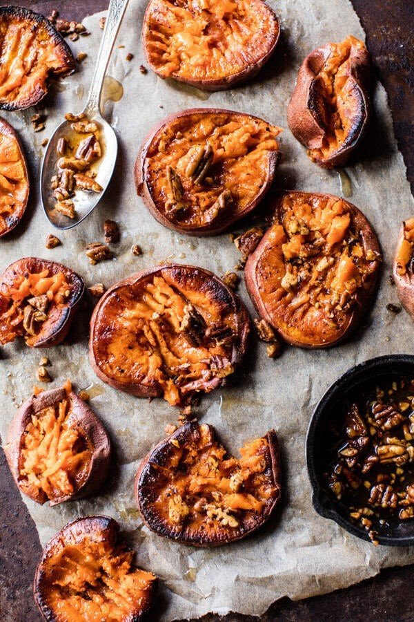 We re sweet on smashed 3 delicious smashed sweet potato for How to make delicious sweet potatoes